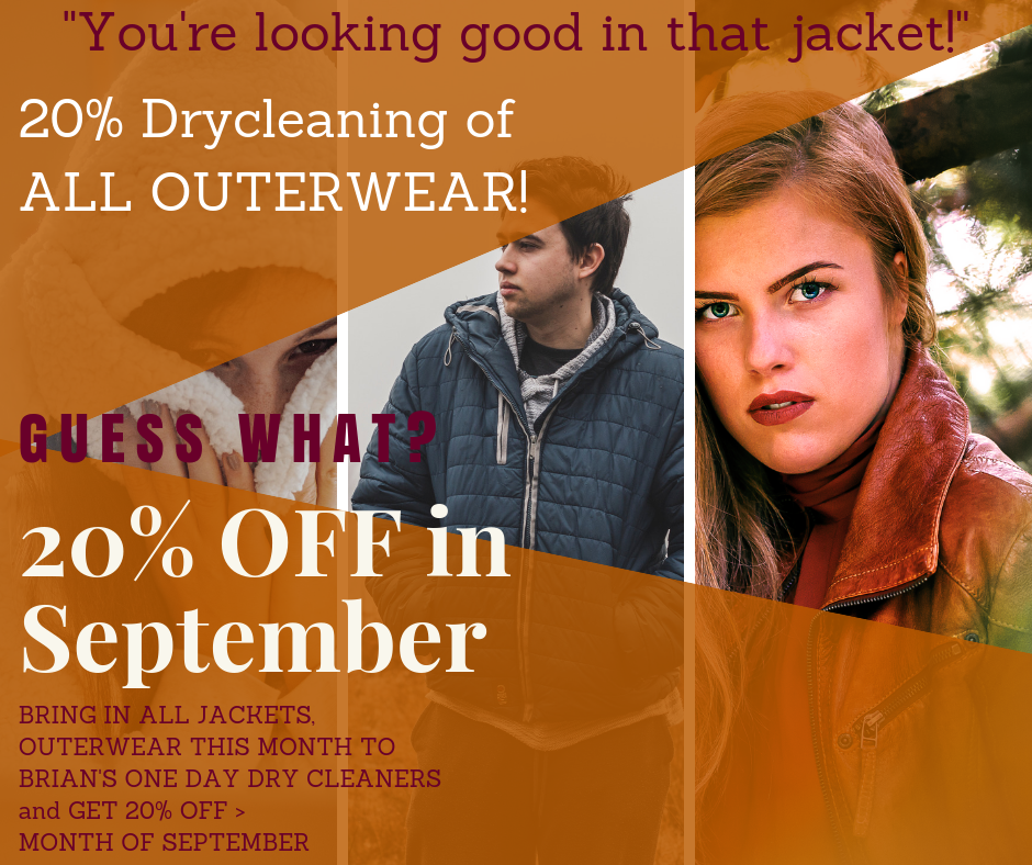 THIS SEPTEMBER: 20% OFF ALL OUTERWEAR