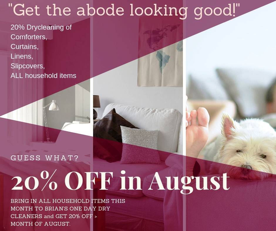 THIS AUGUST: 20% OFF ALL HOUSEHOLD ITEMS!